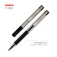 ZEBRA F-301 Compact Ballpoint Pen 0.7 mm Black - Hi Store