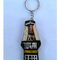 Gantungan Kunci Unik Rumah Toraja / Tongkonan dari Kayu Uru