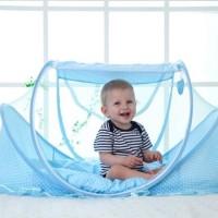 jual kelambu bayi online portable dengan bantal plus Kasur