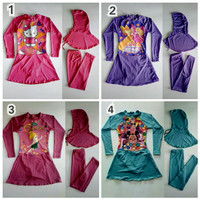 Baju Renang Muslimah Anak SD Karakter Cantik