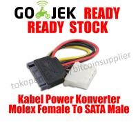 Kabel Power Konverter Molex Female To SATA Male