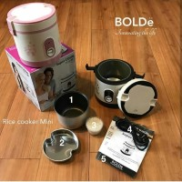 Super COOK Rice CooKeR MiNi 3 In 1 Bolde 0.6L - Or alat dapur termurah