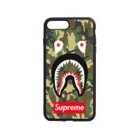 Casing iphone 8 Plus Case bape face shark camou supreme