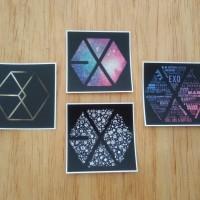Sticker K-Pop Square EXO Logo Series (M)