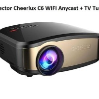 proyektor Projector Cheerlux C6 WIFI Anycast + TV Tuner Teknologi baru