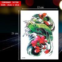 Tato Sementara / Tatto Temporary ikan koi 3D / Tato Temporer. XF-0301