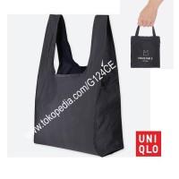 TAS TOTE LIPAT PACKABLE UNIQLO Pocketable bag 407640 biru dongker navy