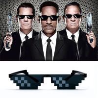kacamata hitam pixel mozaic glasses mosaic black thug life leggo