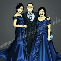 Kado Unik : Gambar Ilustrasi/Karikatur Wajah 12R (30x40cm)