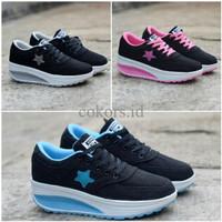 Sepatu Wedges Converse Kets High - Sneakers Wanita - Casual Sport