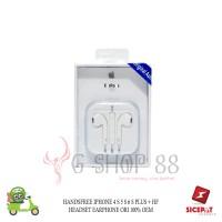 HANDSFREE IPHONE 4 S 5 S 6 S PLUS + HF HEADSET EARPHONE ORI 100% OEM