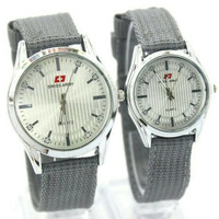 PROMO Jam Tangan Swiss Army SA Couple Classic Kanvas Grey MURAH