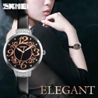 Jam Tangan Wanita Unik Elegan Original SKMEI 9160 Anti Air - Hitam