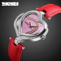 Jam Tangan Wanita Unik Love Original SKMEI 9161 Anti Air 30M - Merah