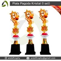 Piala/Trophy Pagoda Kristal 1 Set