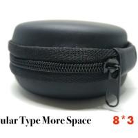Jual Round Earphone Case Bulat Headset Tempat (8x3cm) Murah