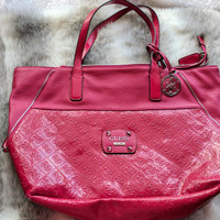 Jual Authentic Guess Shocking Pink Tote Bag beli di LN excellent condition Murah