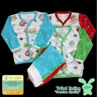 Aruchi Size M Stelan piyama bayi panjang kancing depan baju tidur kaos