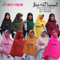 Hijab Jilbab Syari Segi empat size 150 wolfis polos neci