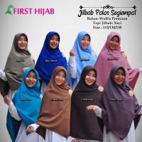 Hijab Jilbab Syari Segi empat size 130 wolfis polos neci