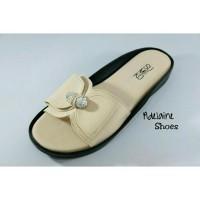 Sandal flat wanita trepes casual formal trendy ringan SUMIKO JL 100-1