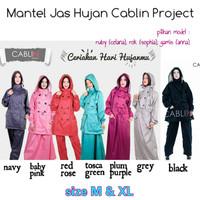 Jas Hujan Mantel Raincoat Celana Rok Gamis Muslimah Cablin Project
