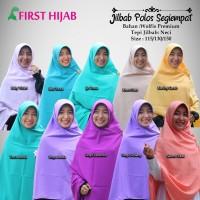 Hijab Jilbab Syari Segi empat size 115 wolfis polos neci