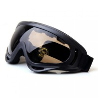 Kacamata Goggles Ski Helm Motor Sepeda ATV Outdoor Vespa - Coklat