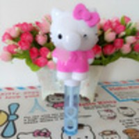 Mini Fan Kipas Angin Bubble Portable Karakter Hello Kitty Helo Kity AC
