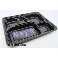 Bento mika 5 sekat/Lunch box/Food container/Tempat makanan/Box bento