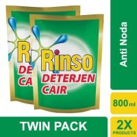 Jual Rinso Deterjen Cair Anti Noda 800ml - Twin Pack Murah
