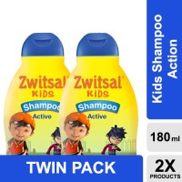 Zwitsal Kids Shampoo Act Blue 180ml - Twin Pack