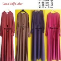 Baju Gamis / Fashion Wanita / Gamis wolvis lebar/ gamis wolfis murah