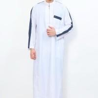 Baju Gamis / Fashion Wanita / Jubah Muslim Gamis Pria Al-Aqsa Putih Li