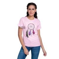Kaos Wanita / Tumblr Tee Lengan Pendek Dream Catcher - Pink