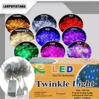 Jual LAMPU TUMBLR NATAL DEKORASI HIAS LED TWINKLE LIGHT 10M (ADA SAMBUNGAN) Murah