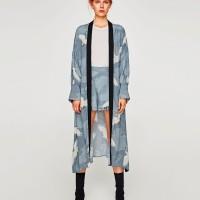 Heron Print Kimono / Outer / Cardigan ZARA Look Alike