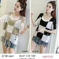 Baju Atasan Wanita M - 273# knit [Atasan Wanita Blouse 0141] RA9