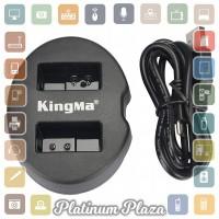 Kingma Charger Baterai 2 Slot Coolpix A Nikon J1 J2 J3 S`60YXC5- Black