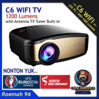 Projector Cheerlux C6 WIFI Build In + TV Tuner Original New Farmware
