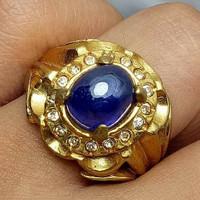 Cincin blue sapphire/ safir asli natural istimewa