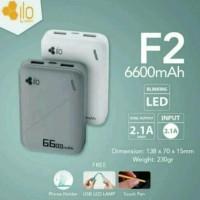 PROMO - Hippo Powerbank ILO F2 6600 mAh - Real Capacity - Garansi