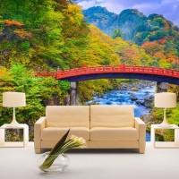 Wallpaper Dinding Custom Pemandangan Alam 3D Gunung Jembatan 13