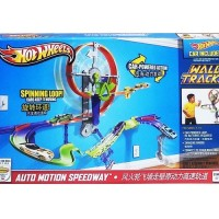 Mainan HOT WHEELS WALL TRACKS AUTO MOTION SPEEDWAY - X9309