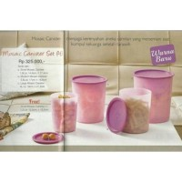 Asli BPA free Mosaic Canister Purple Gold Set Tupperware Bagus aman