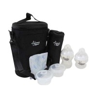 Tommee Tippee Insulated Twin Bottle Carrier - Hitam 150ml