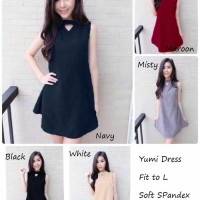 PAKAIAN WANITA YUMI DRESS | DRESS WANITA | DRESS PUTIH | GAUN PESTA M