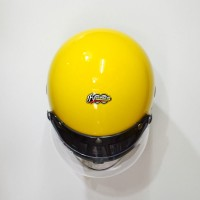 Helm Retro Fino Barcode Double Visor Kun KODE BN9691