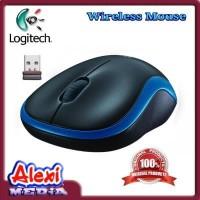 Logitech Wireless Mouse M185 ORIGINAL Biru - AlexiMedia