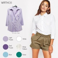 WRTH08 - 3/4 Sleeve Shirts - Kemeja Wanita- Atasan - Baju Kerja MURAH
